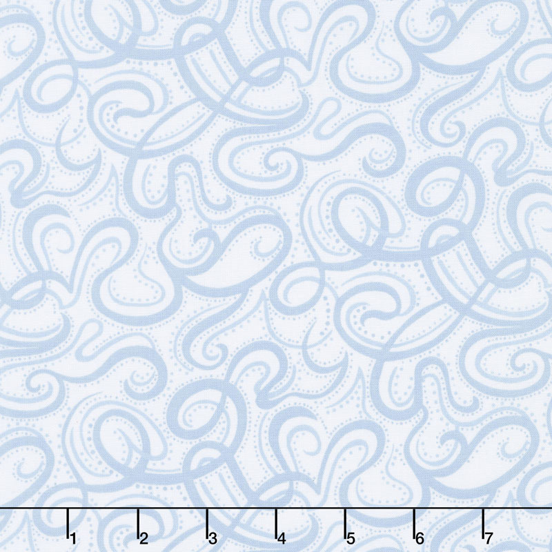 Infinity - Paisley Script Light Blue 108