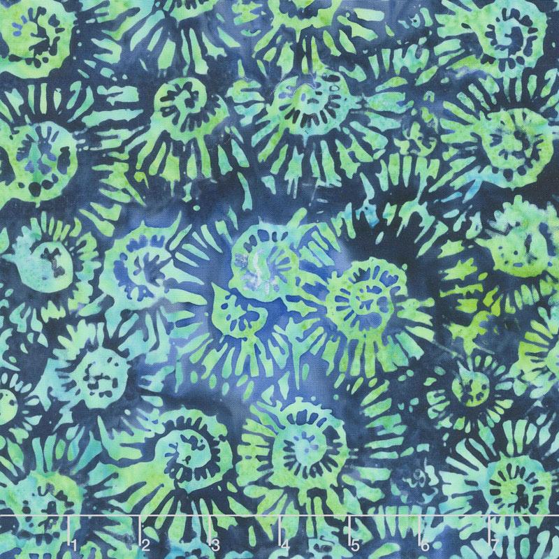 Blue Skies Batiks - Nautilus Deep Sea Yardage