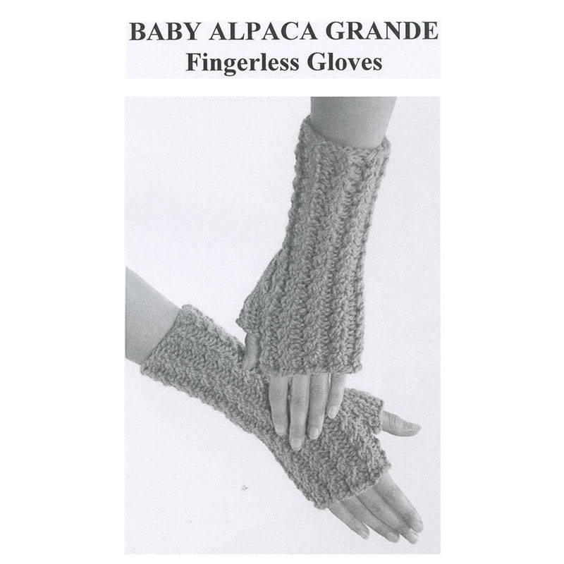 Baby Alpaca Grande Fingerless Gloves Pattern - Plymouth Yarn Company
