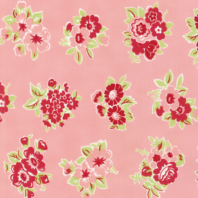 Little Snippets - Marmalade Floral Coral Yardage