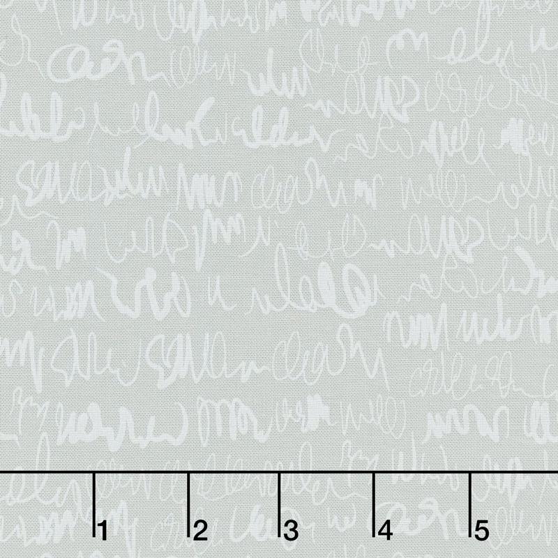 Modern Backgrounds More Paper - Scribbles Zen Grey Yardage