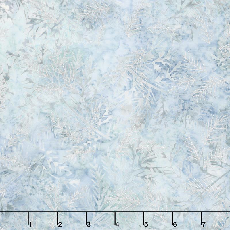 Artisan Batiks - Northwoods 8 Branches Ice Metallic Yardage
