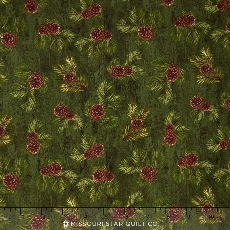 Majestic Outdoors - Majestic Pinecones Green Yardage