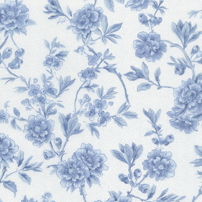 Regency Ballycastle Chintz 18th Century - Maghera Off White English Blue 108