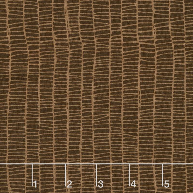 Merrily - Weave Chocolate Yardage