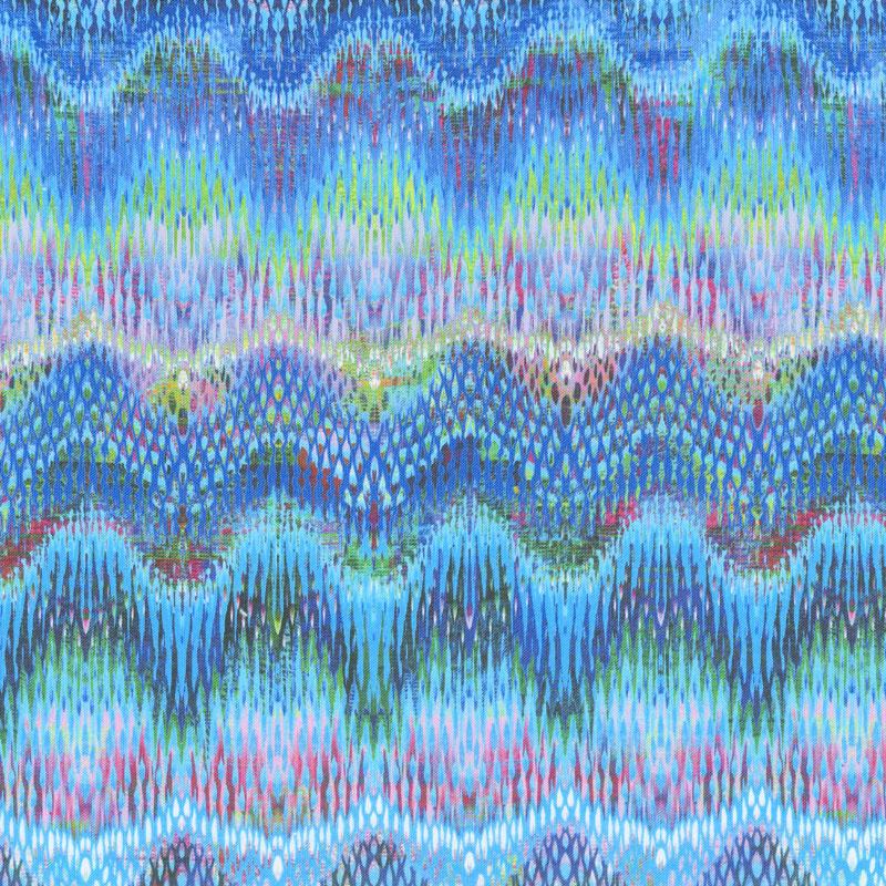 Starlight & Splendor - Wavelength Turquoise Digitally Printed Yardage