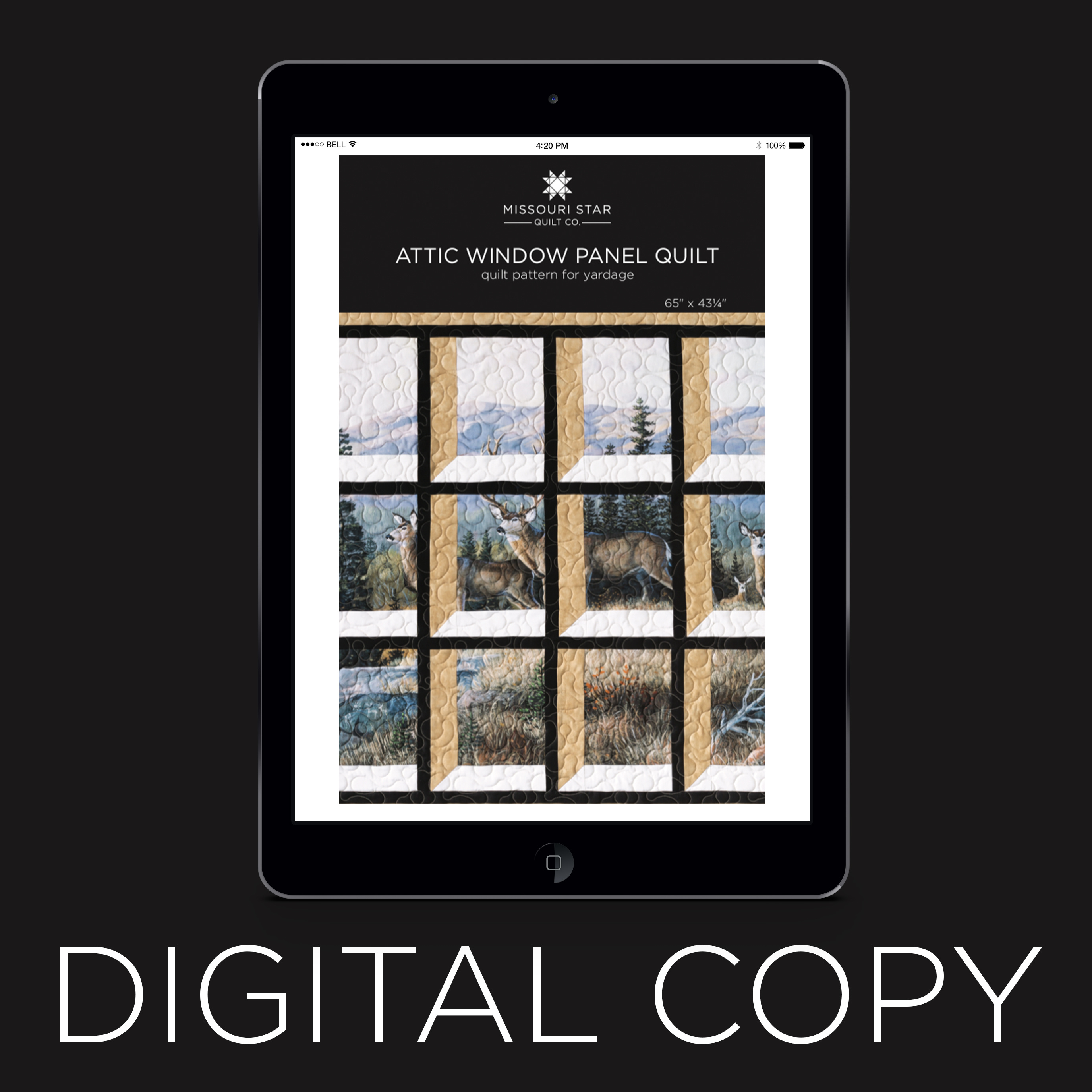 Digital Download Attic Window Panel Quilt Pattern By