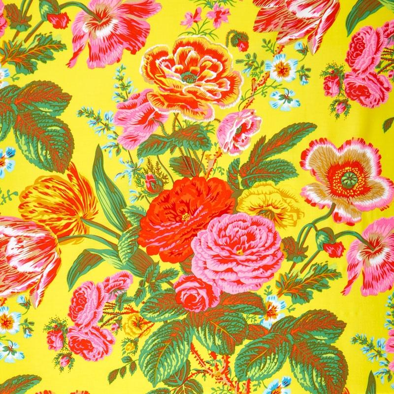 Kaffe Collective Spring 2017 - Sunshine Summer Bouquet Yellow Yardage