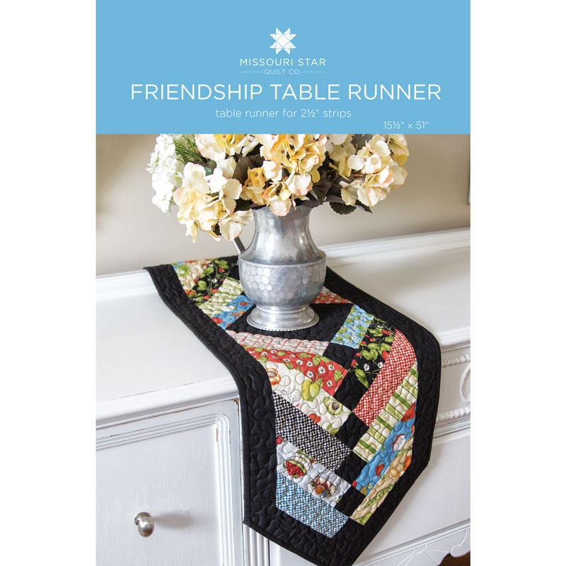 Friendship Table Runner Quilt Pattern By Missouri Star Missouri Interesting Table Runner Quilt Patterns