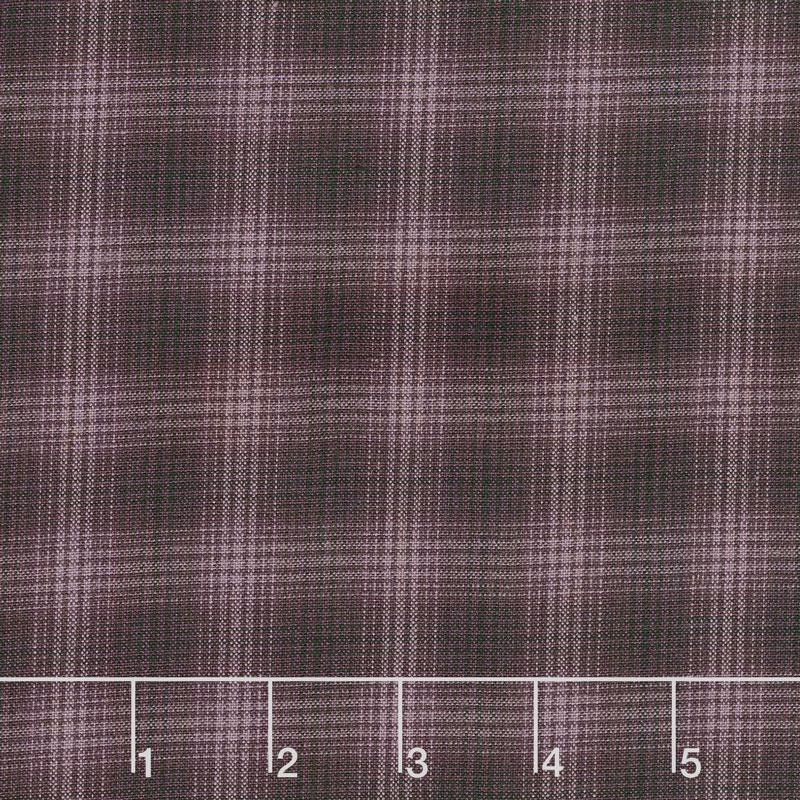 Itty Bitty - Small Plaid Purple Yarn Dye Yardage
