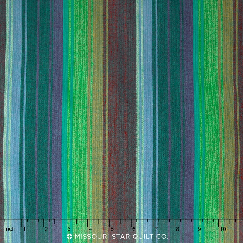 Kaffe Wovens - Exotic Stripe Emerald Yardage