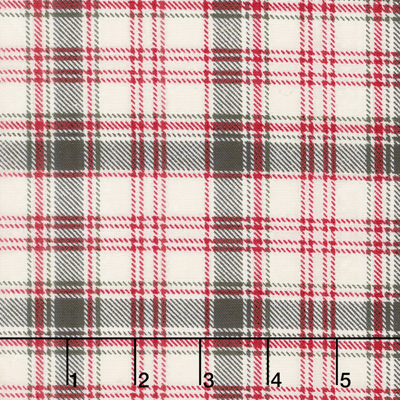 Home Sweet Cabin - Plaid Cream Yardage