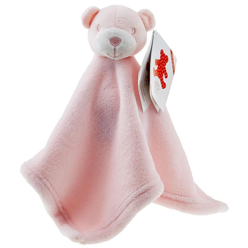 Mini Bear Pink Embroider Buddy Blankey