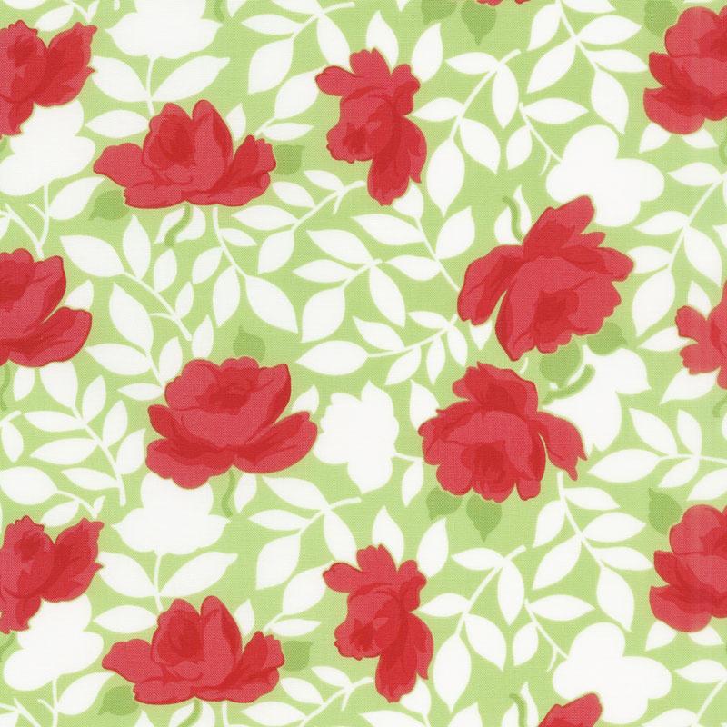 Little Snippets - Vintage Rose Green Yardage