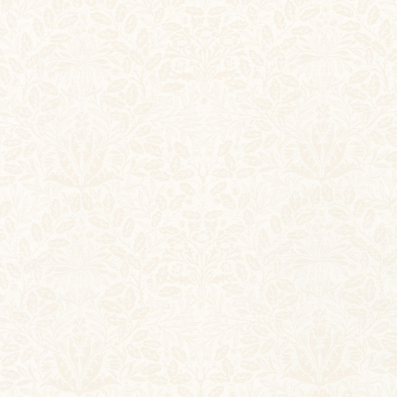 Dover - Acorn Damask Linen White Yardage
