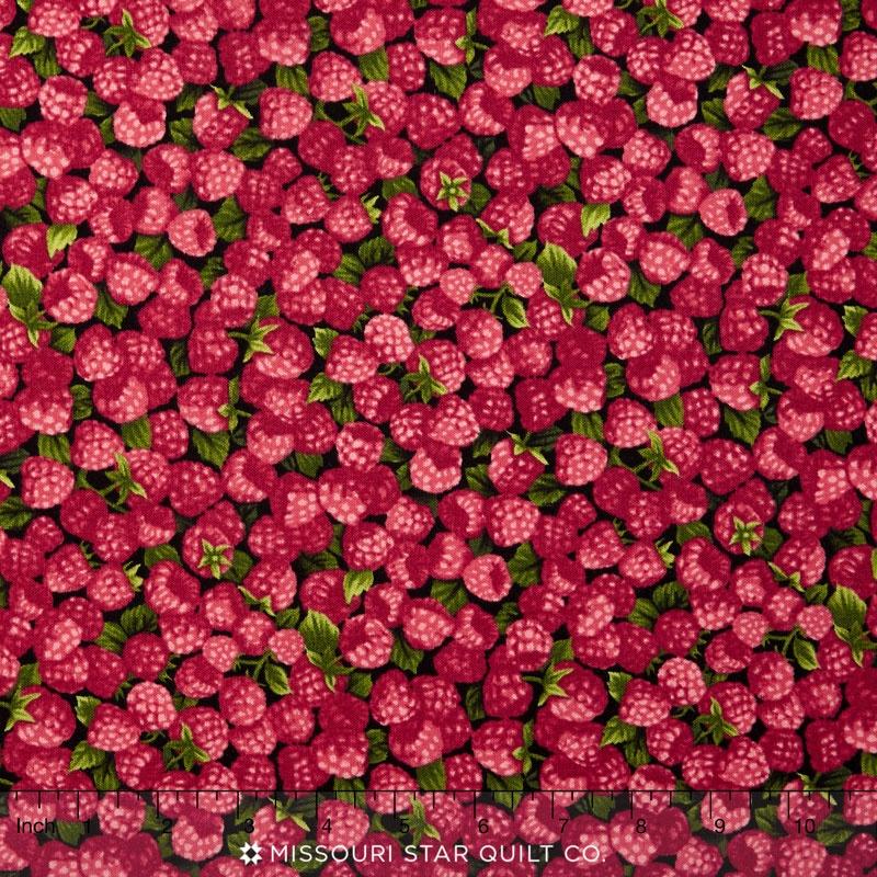 Farmer John's Garden Party - Raspberries Red Yardage