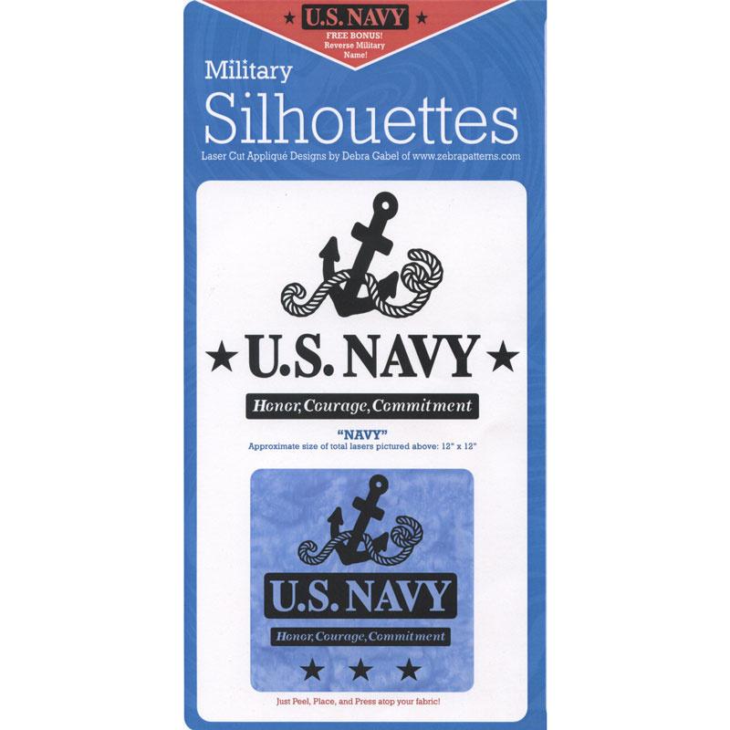Navy Laser Silhouette Precut Fused Appliqu 233 Pack Debra