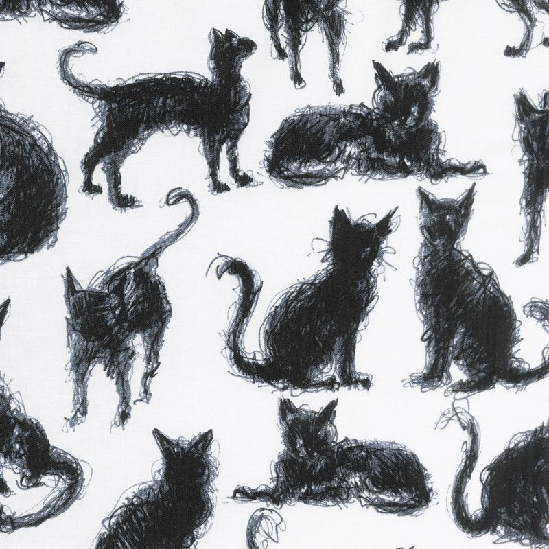 Cats - Furry Cats Milk Yardage