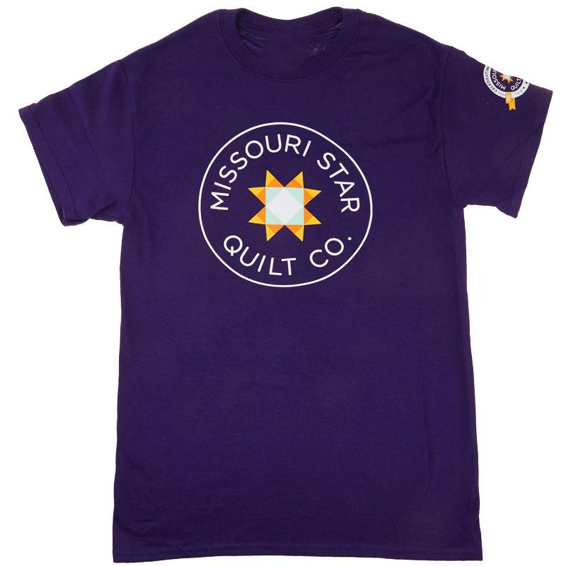Missouri Star Circle Logo 10th Anniversary Purple Round Neck T-Shirt - Small