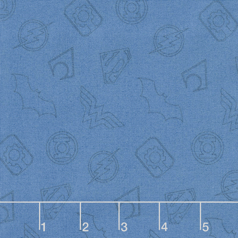 Justice League Activated - Logo Outline in Blue Yardage