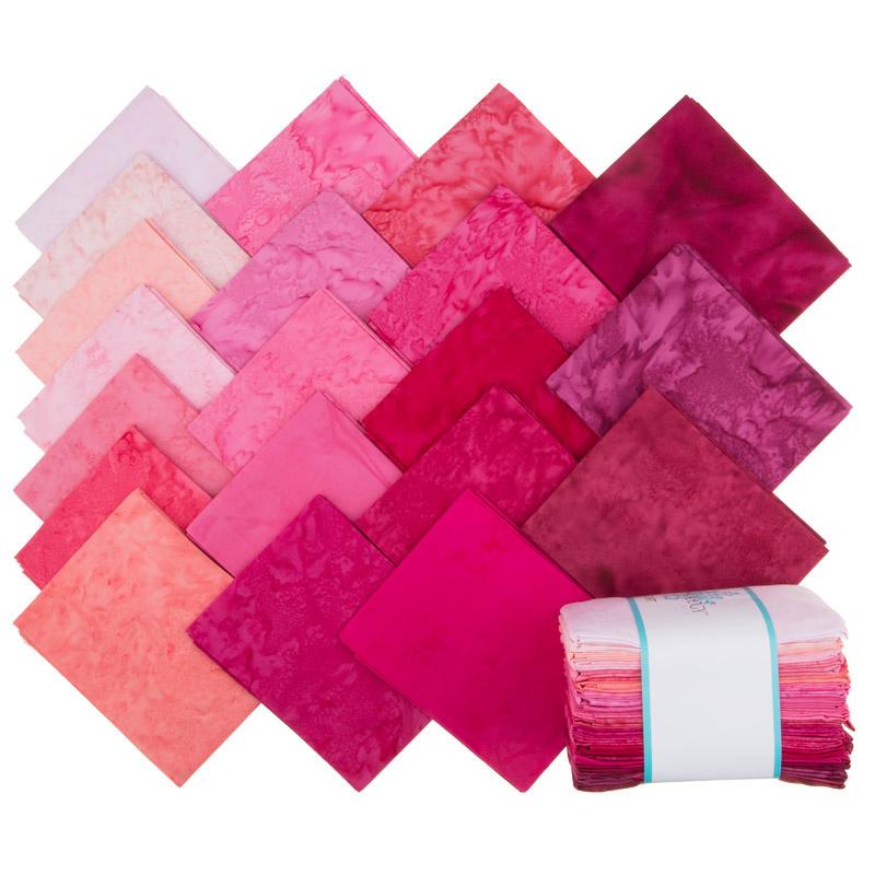 Lava Batik Solids - Flirt Fat Quarter Bundle