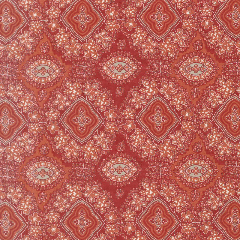 Portsmouth - Indian Chintz Red Yardage