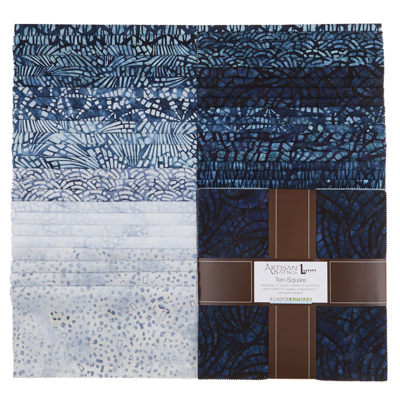 Artisan Batiks - Natural Formations 3 Rain Ten Squares