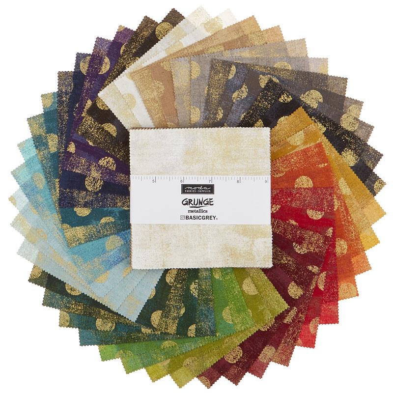 Grunge Metallics Charm Pack