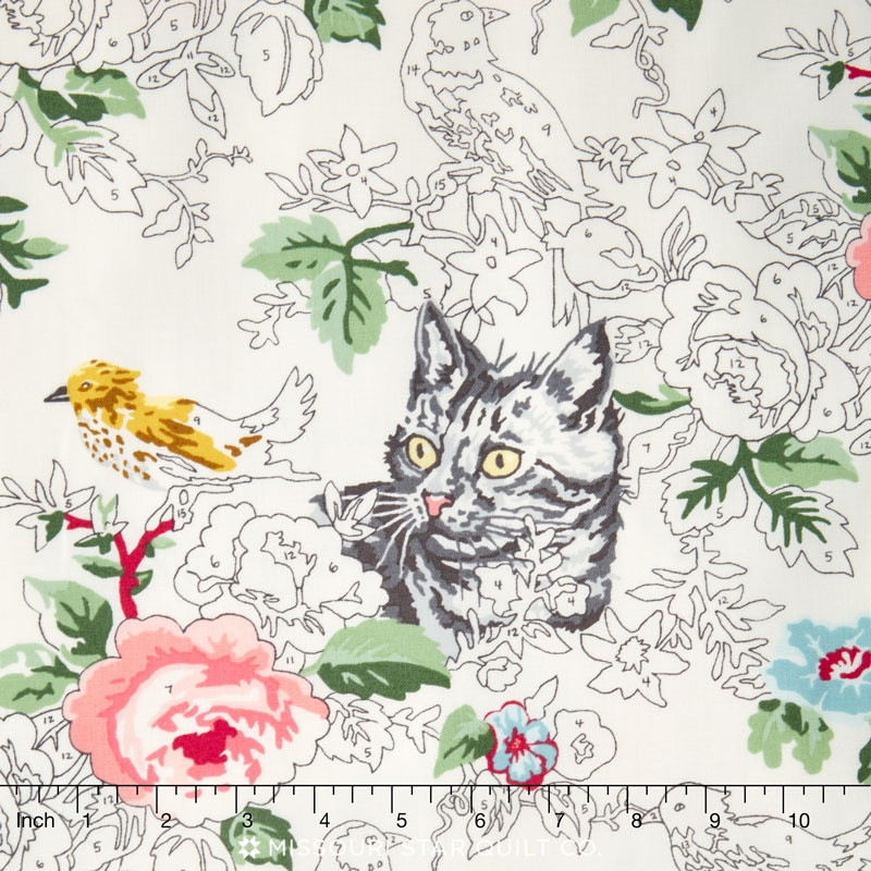 Meow or Never - Check Meow Milk Pastel Yardage