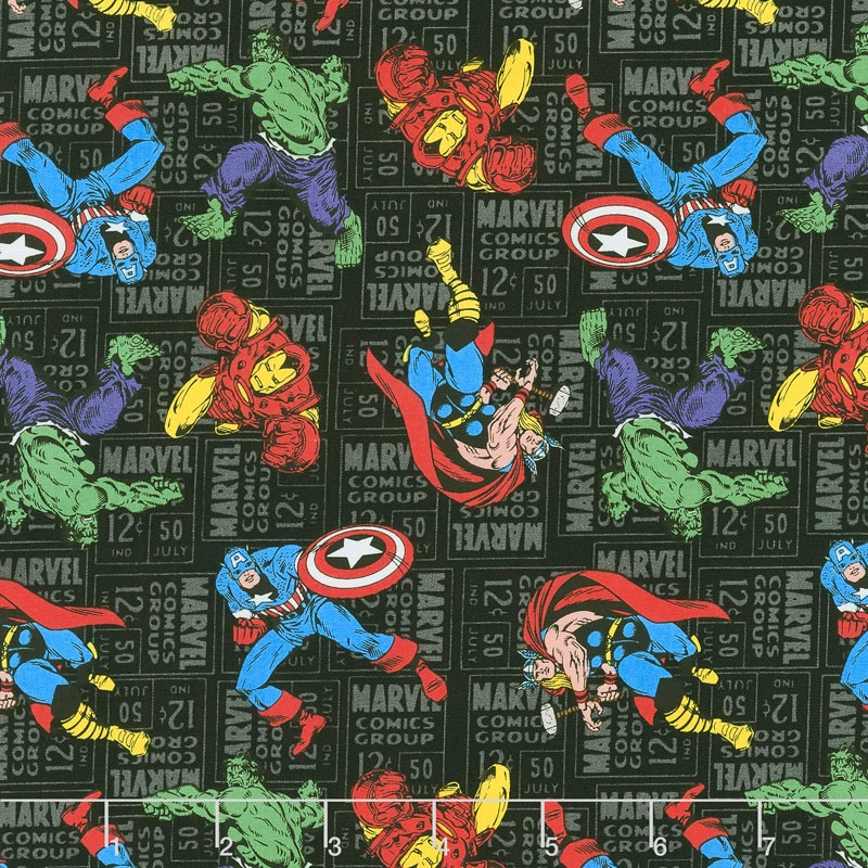 Marvel Retro Comics - Character Toss Yardage