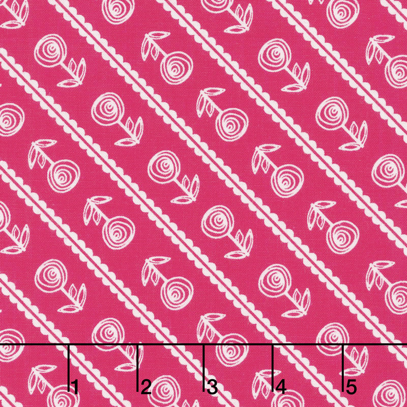 Simply Happy - Stripe Pink Yardage