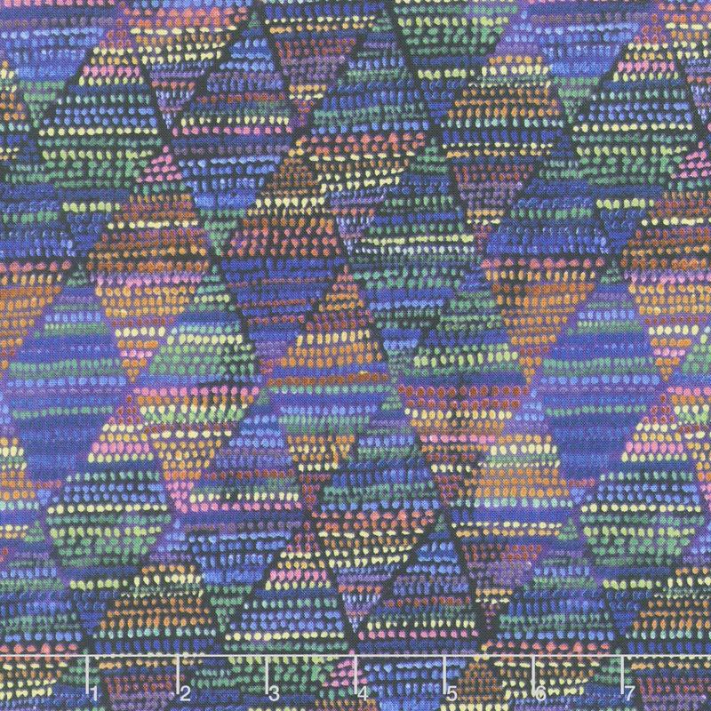 Loca Linda - Diamond Dots Navy Yardage
