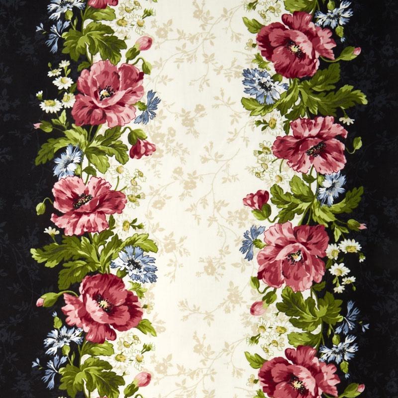 Poppies - Poppy Stripe Multi Yardage