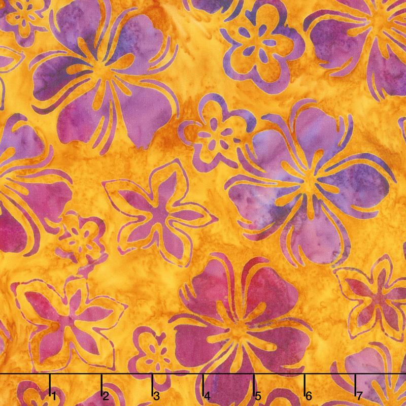 Artisan Batiks - Bright Blooms Flowers Sunburst Yardage