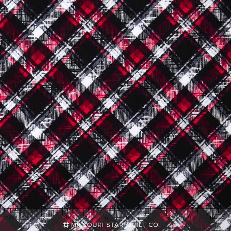 Scotty Love - Pet Plaid Black Yardage