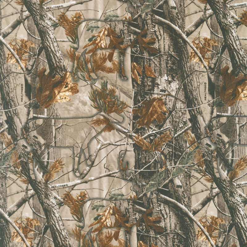 Realtree Hidden Animals Brown Yardage Realtree Licensed Products