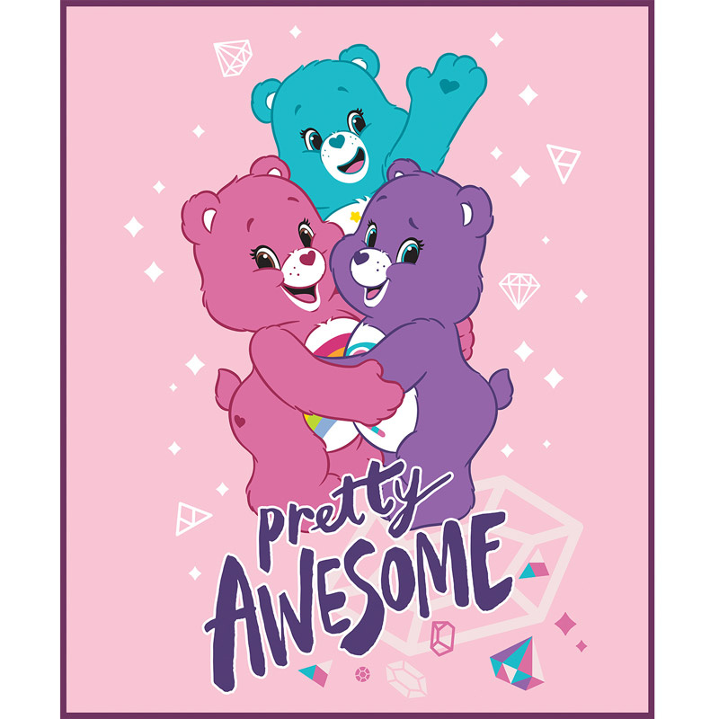 Care Bears - Sparkle & Shine Pretty Awesome in Pink Panel