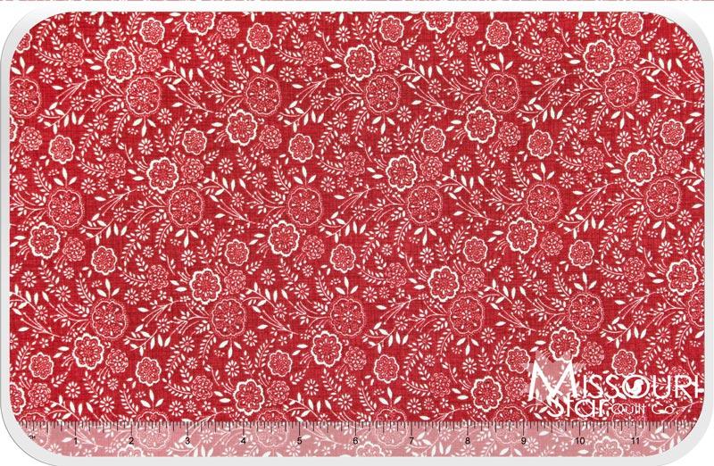 La Belle Fleur - Rouge Yardage