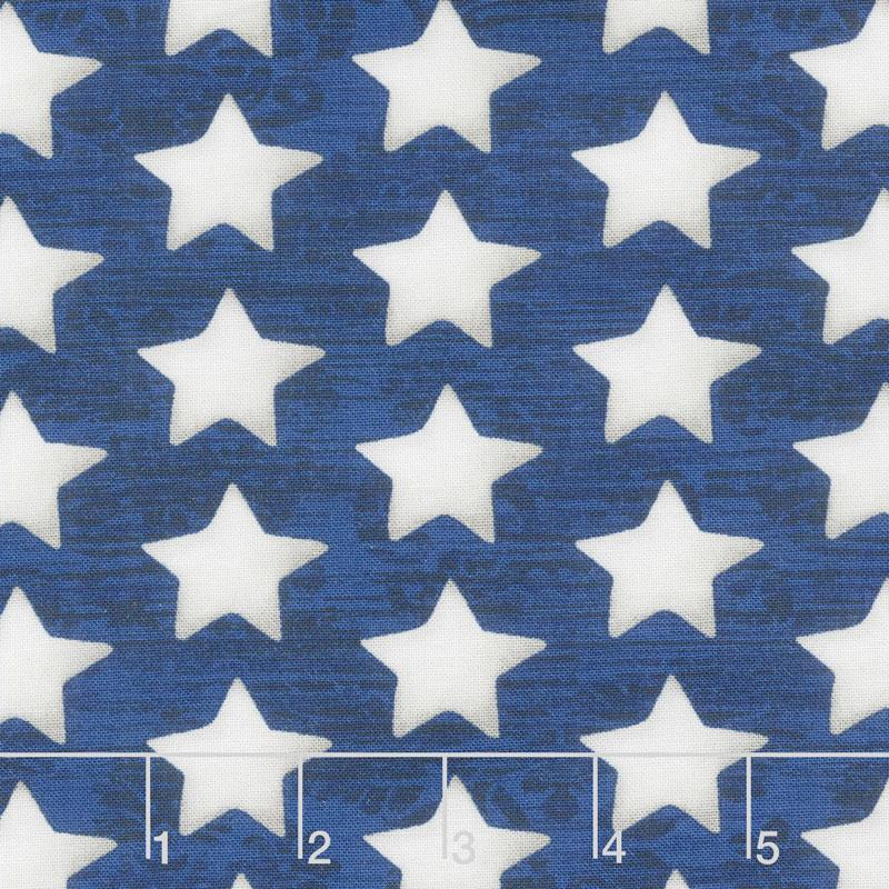 America the Beautiful - Set Stars Blue Yardage