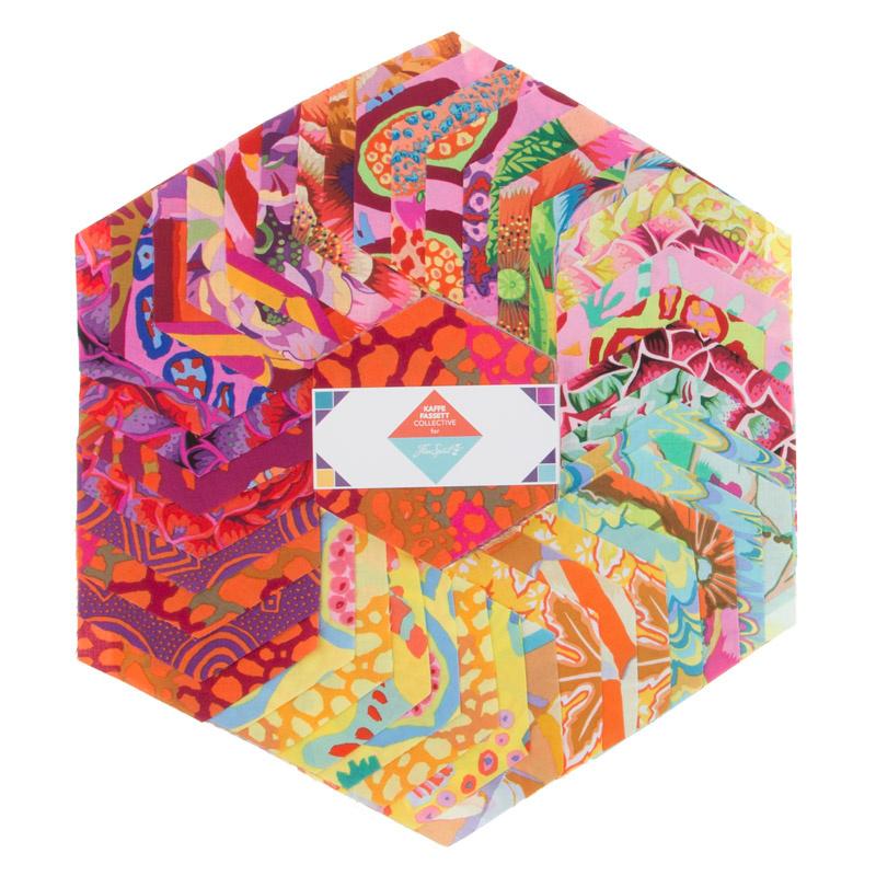 Kaffe Fassett Collective Spring 2018 - Bright Hexagons