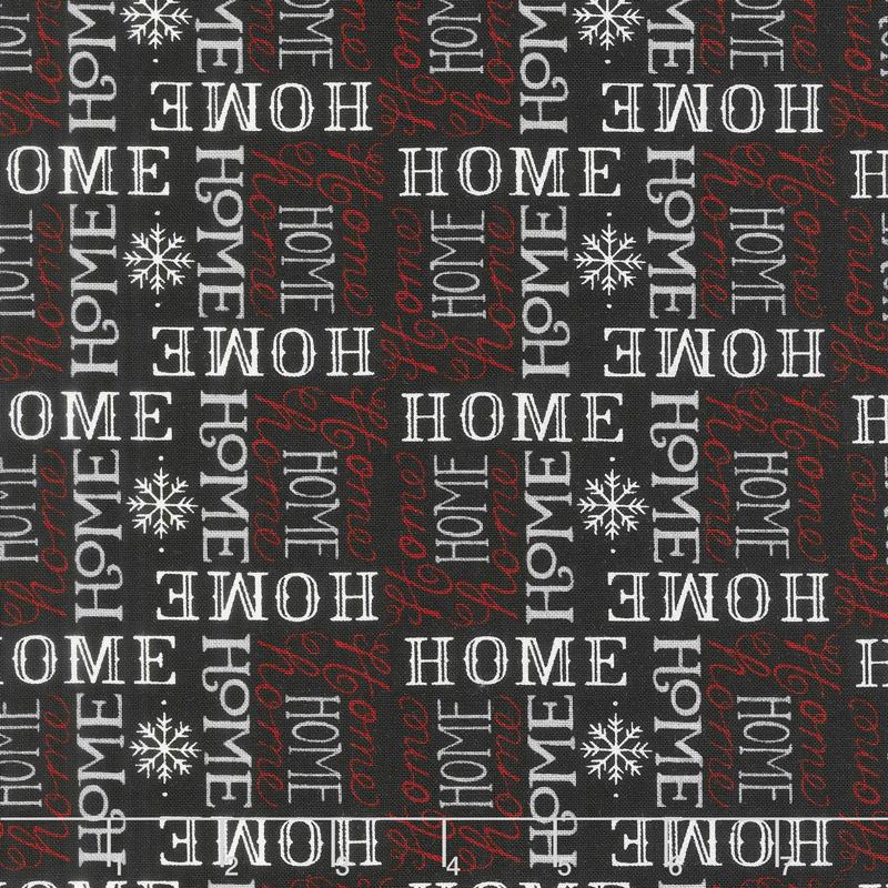 Holiday Lodge - Always Home Charcoal Yardage