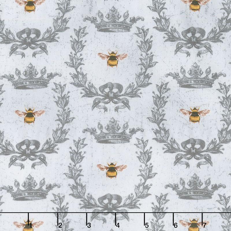 Le Bouquet - Queen Bee Gray Yardage