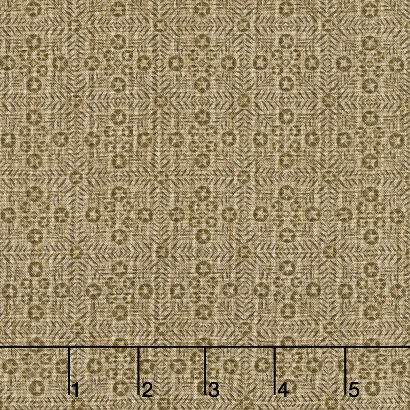 Itty Bitty - Tiles Tan Yardage