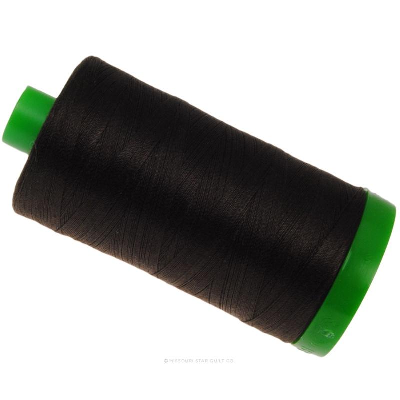 Aurifil 40 WT Cotton Mako Large Spool Thread Very Dark Bark