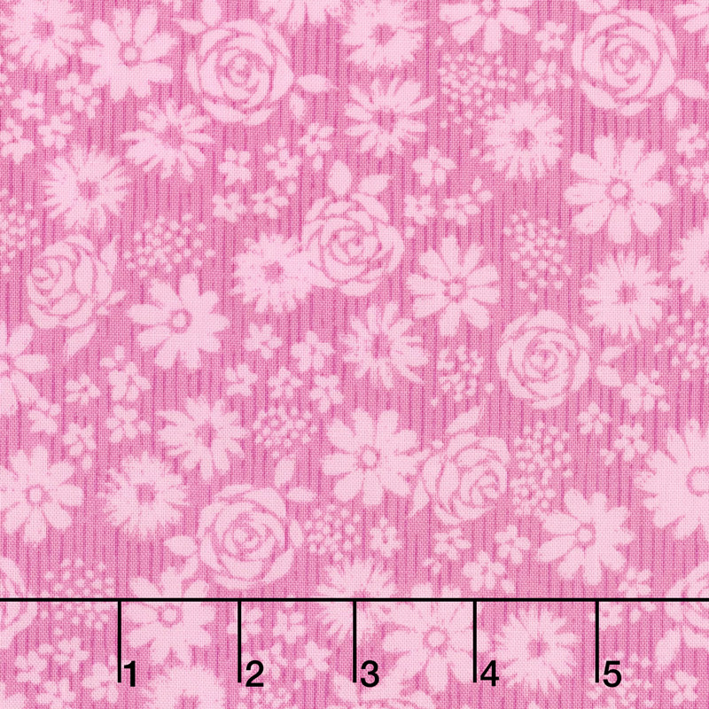 Top Drawer - Tonal Floral Baby Pink Yardage