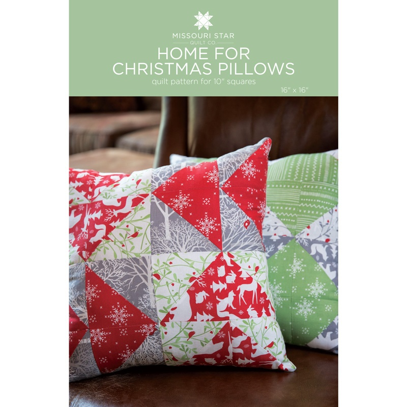 Christmas Pillows.Home For Christmas Pillows Pattern By Missouri Star