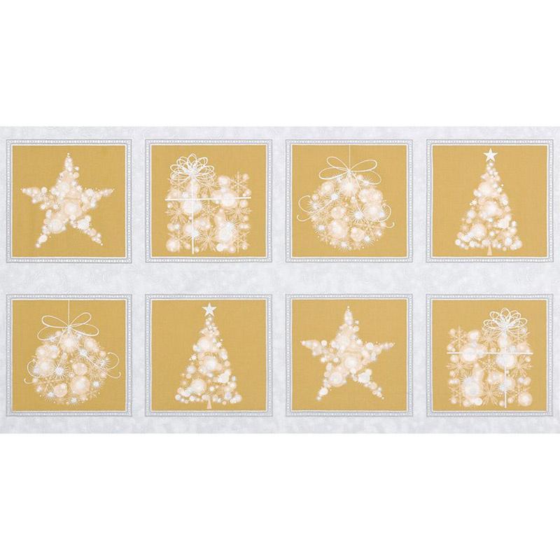 Winter's Grandeur 6 - Champagne Ornaments Champagne Metallic Panel