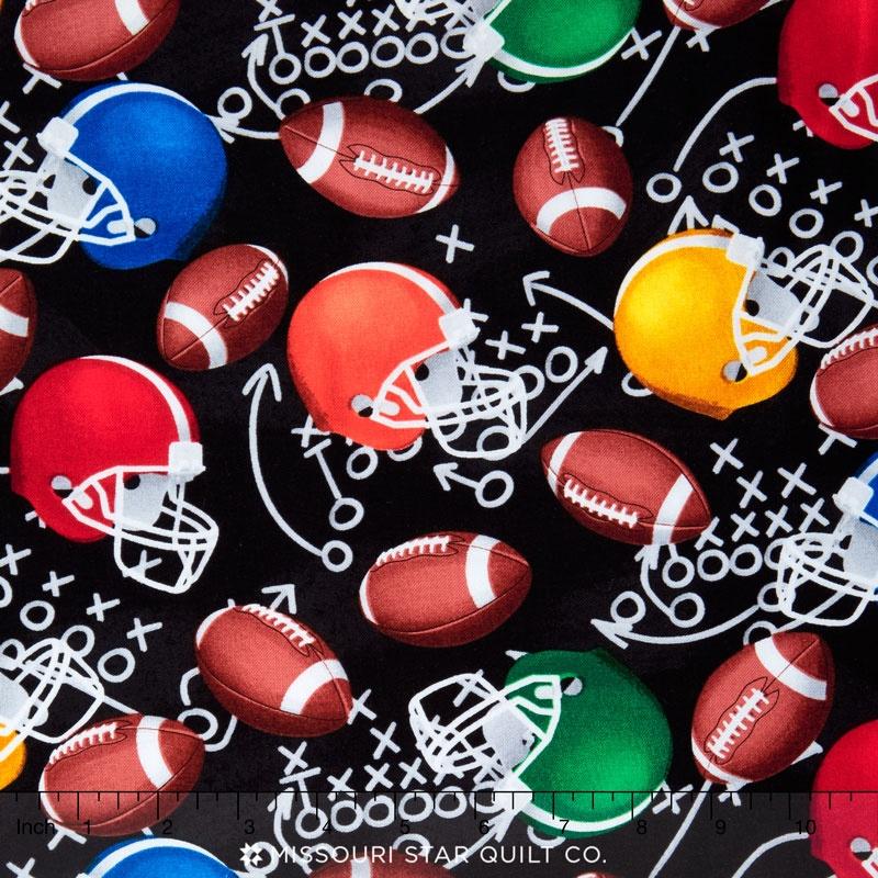 Sports - Football Helmets Black Yardage