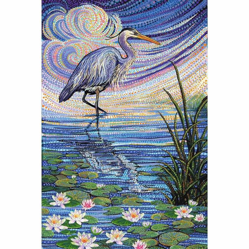 Artisan Spirit Water Garden Blue Heron Blue Digitally