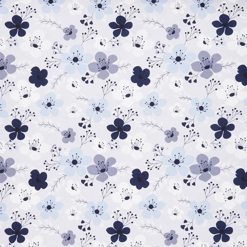 Something Borrowed - Floral Main Gray Yardage